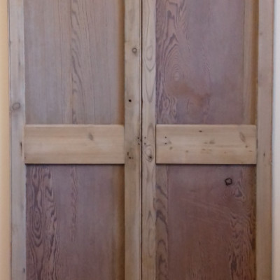 A reclaimed pair of rebated cupboard doors.