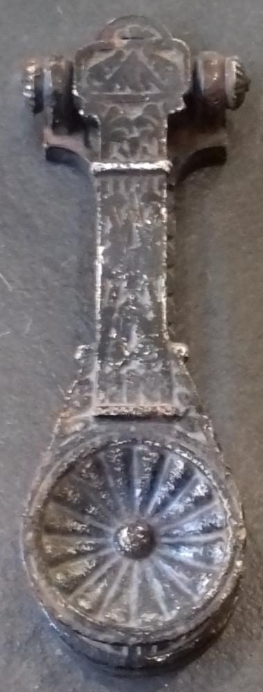 A Victorian cast iron door knocker