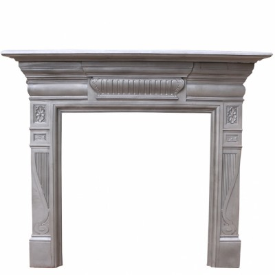 Antique Cast Iron Fireplace