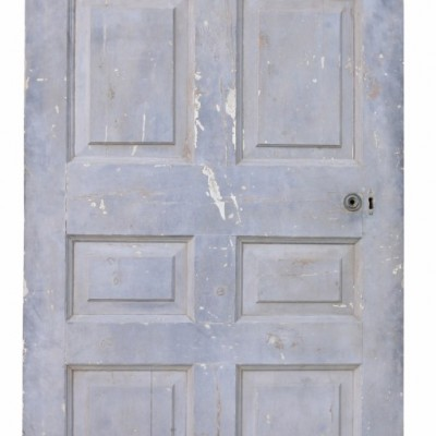 English Georgian Period Painted Interior Pine Door
