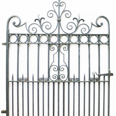 Circa 1900 Wrought Iron Pedestrian / Garden Gate
