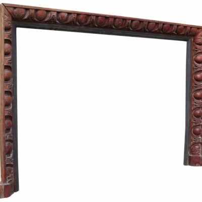 Antique Carved Mahogany Fire Surround