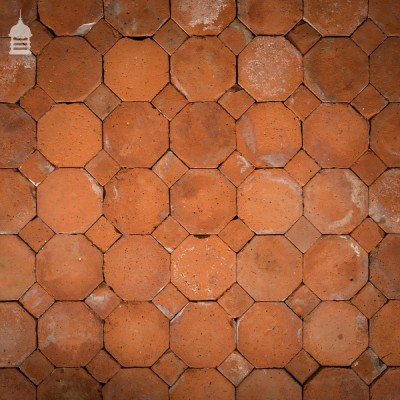 Batch of 160 Reclaimed Octagonal Pamments Floor Tiles 5.5 SqMs