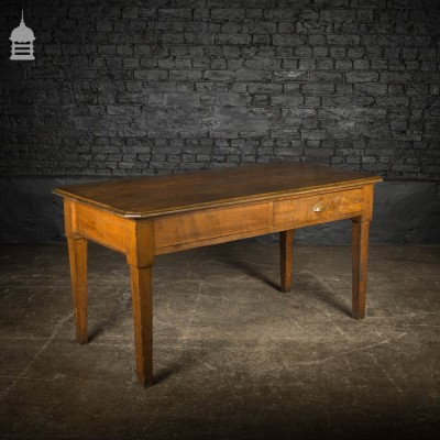 1920's Solid Oak Office Table with Single Drawer1920's Solid Oak Office Table with Single Drawer