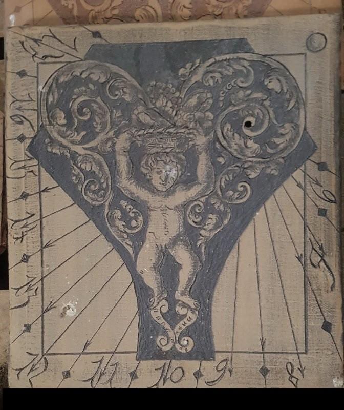 Very old handmade ceramic sundial