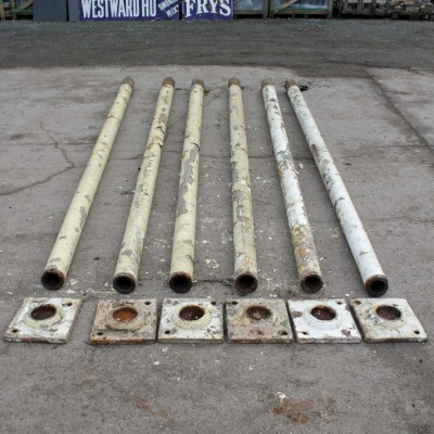 Reclaimed set of 6 cast iron columns