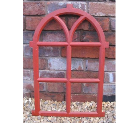 Antique Cast Iron Arched Gothic Window Frame