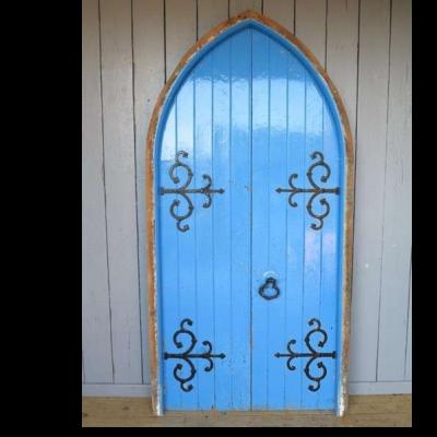 Pair of Reclaimed Antique Church Doors with Working Lock & Keys