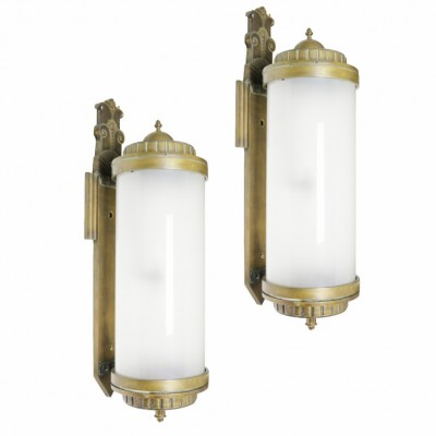 Pair Of Large 1930's Art Deco Wall Lights