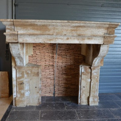 cheminee ancienne - French chateau kitchen fireplace