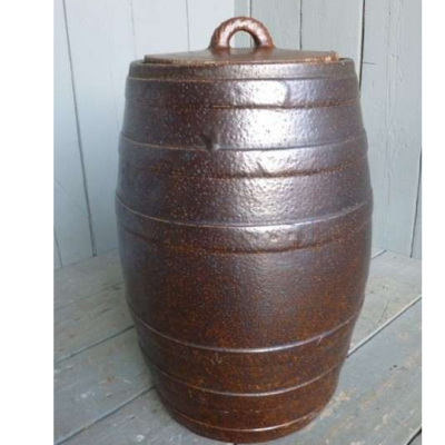 Rare Large Saltglazed Barrel