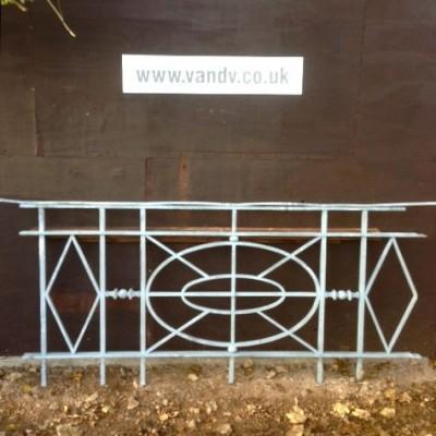 Reclaimed Art Deco Wrought Iron Railings