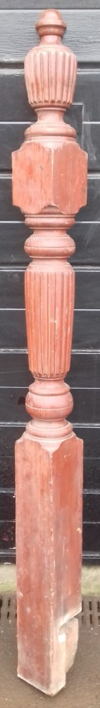 Victorian pitch pine newel post.