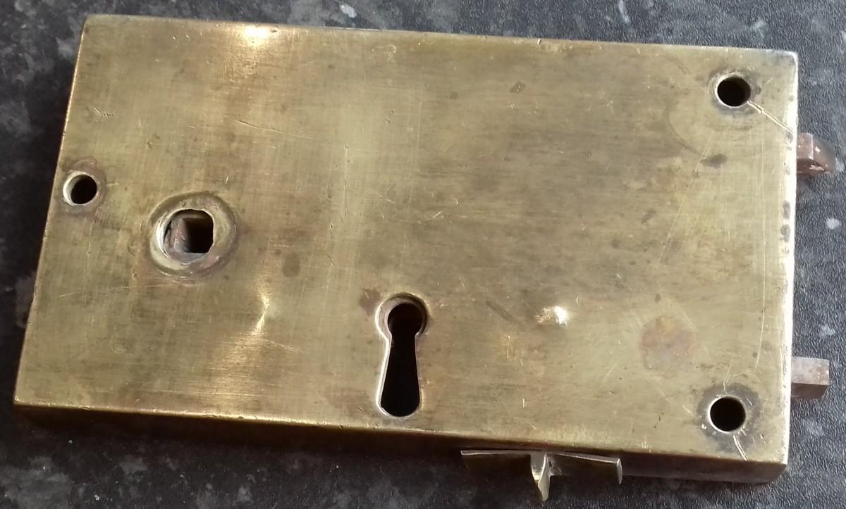 Georgian brass rim lock.