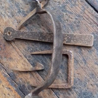 Large reclaimed  blacksmithmade thumb latch set