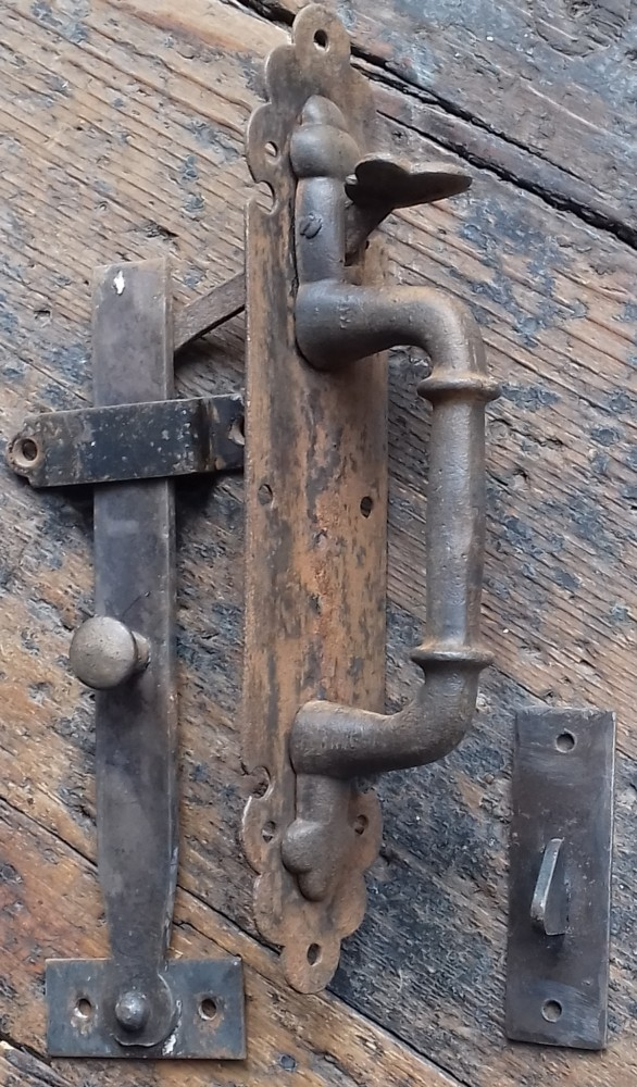 Reclaimed thumb latch set.