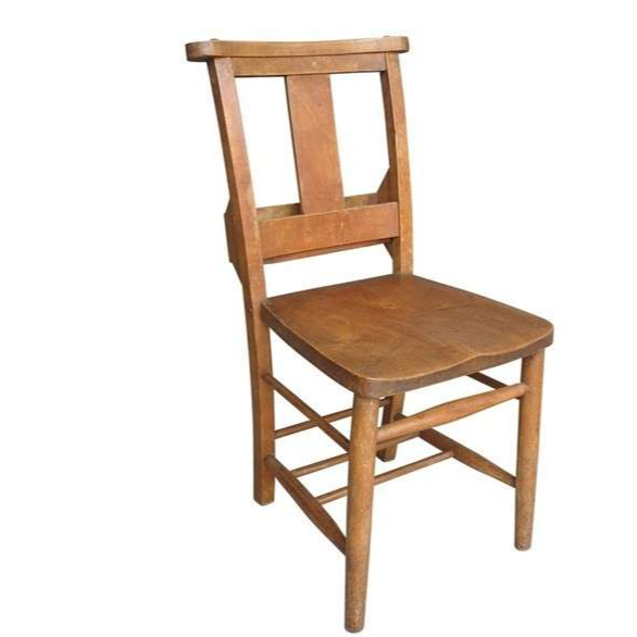 Antique Church / Chapel Chairs With Bible Backs