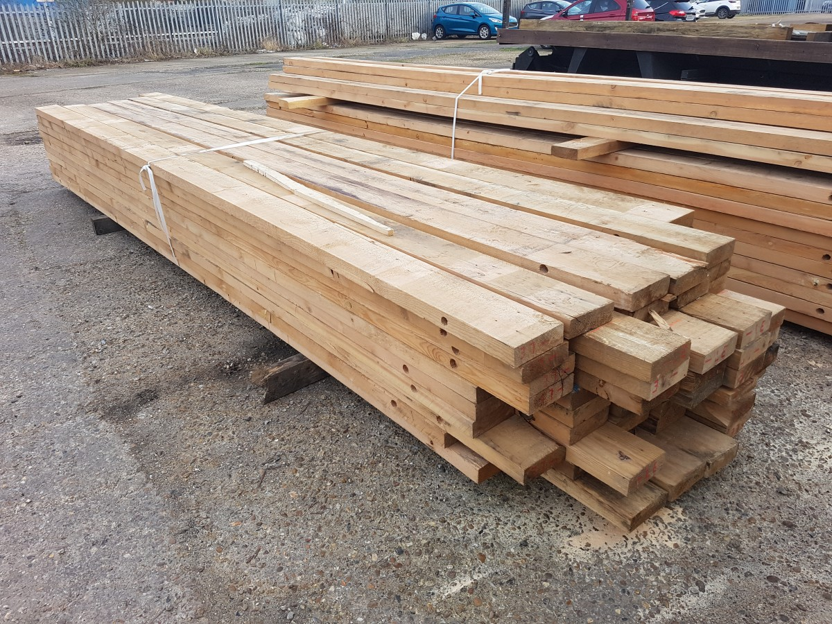 6x2 4.8m lengths Reclaimed Timber Clean