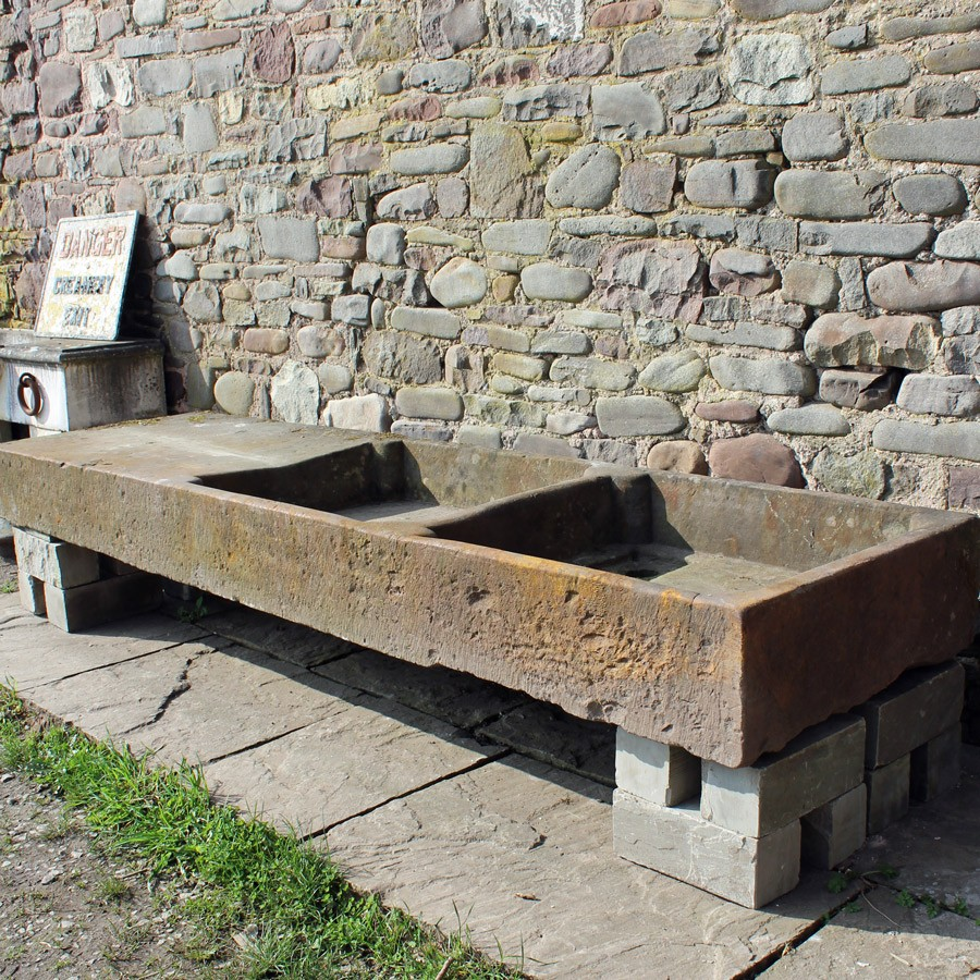 Early 8.5ft stone sink