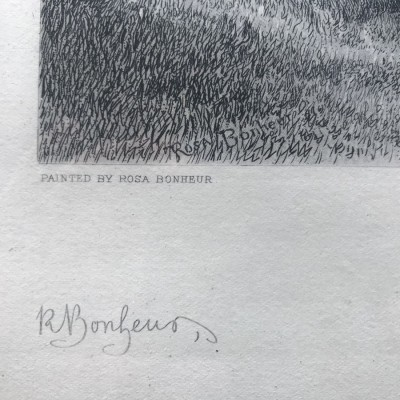 Pair Rosa Bonheur Engravings