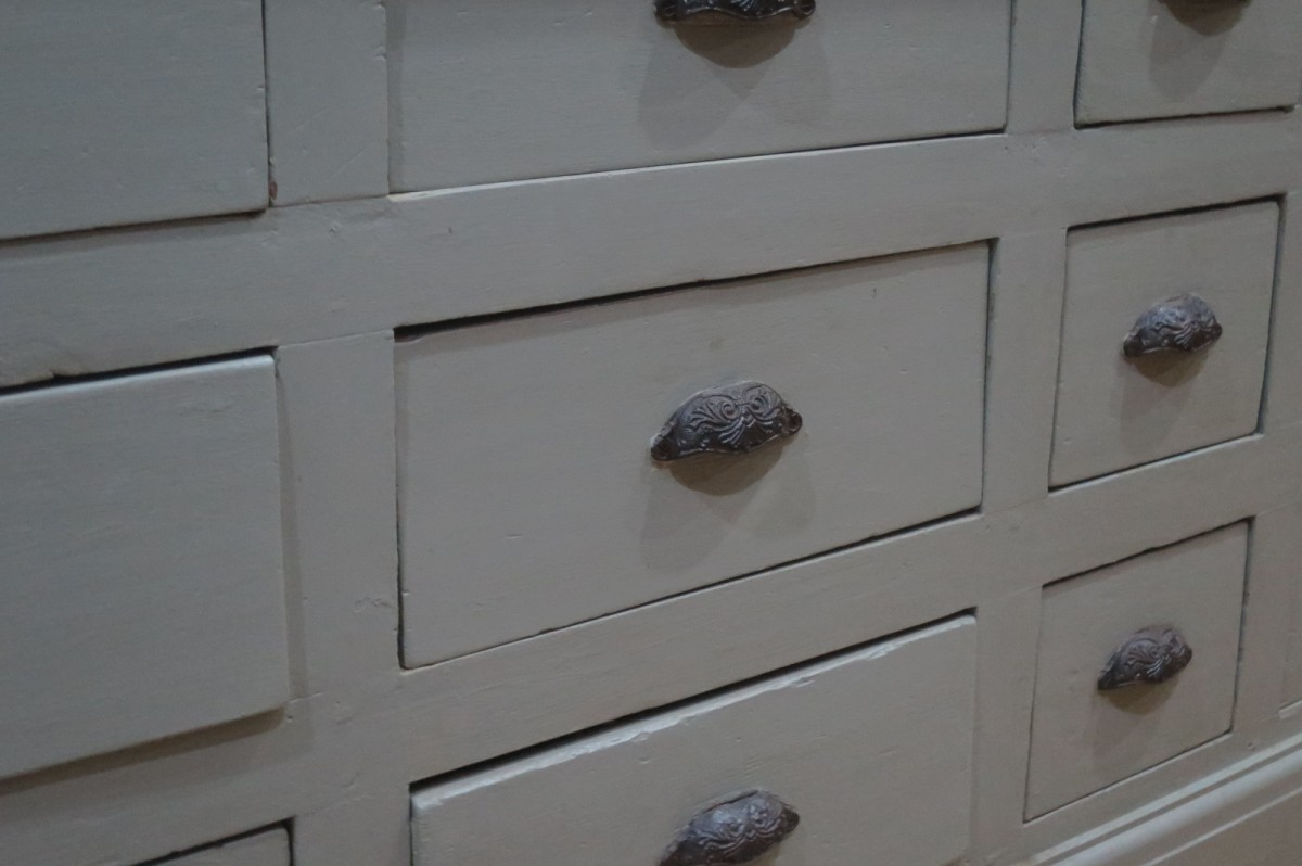 Victorian 12 Drawer Apothecary cabinet