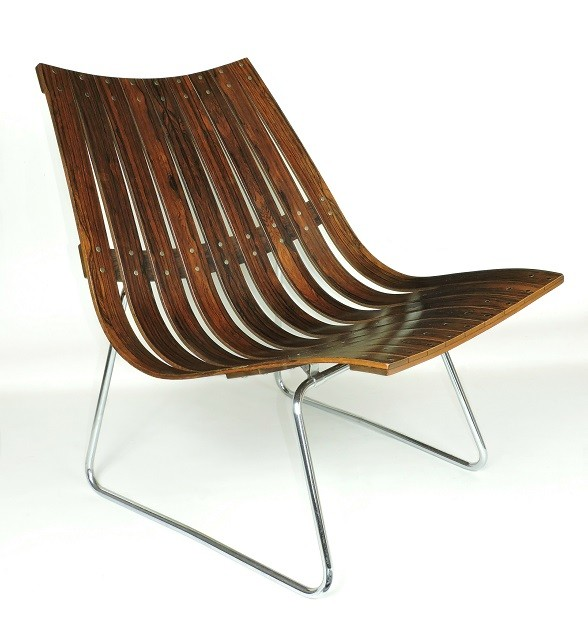 Hans Brattrud Rosewood Scandia lounge chair Hove Mobler Norway 60s vintage