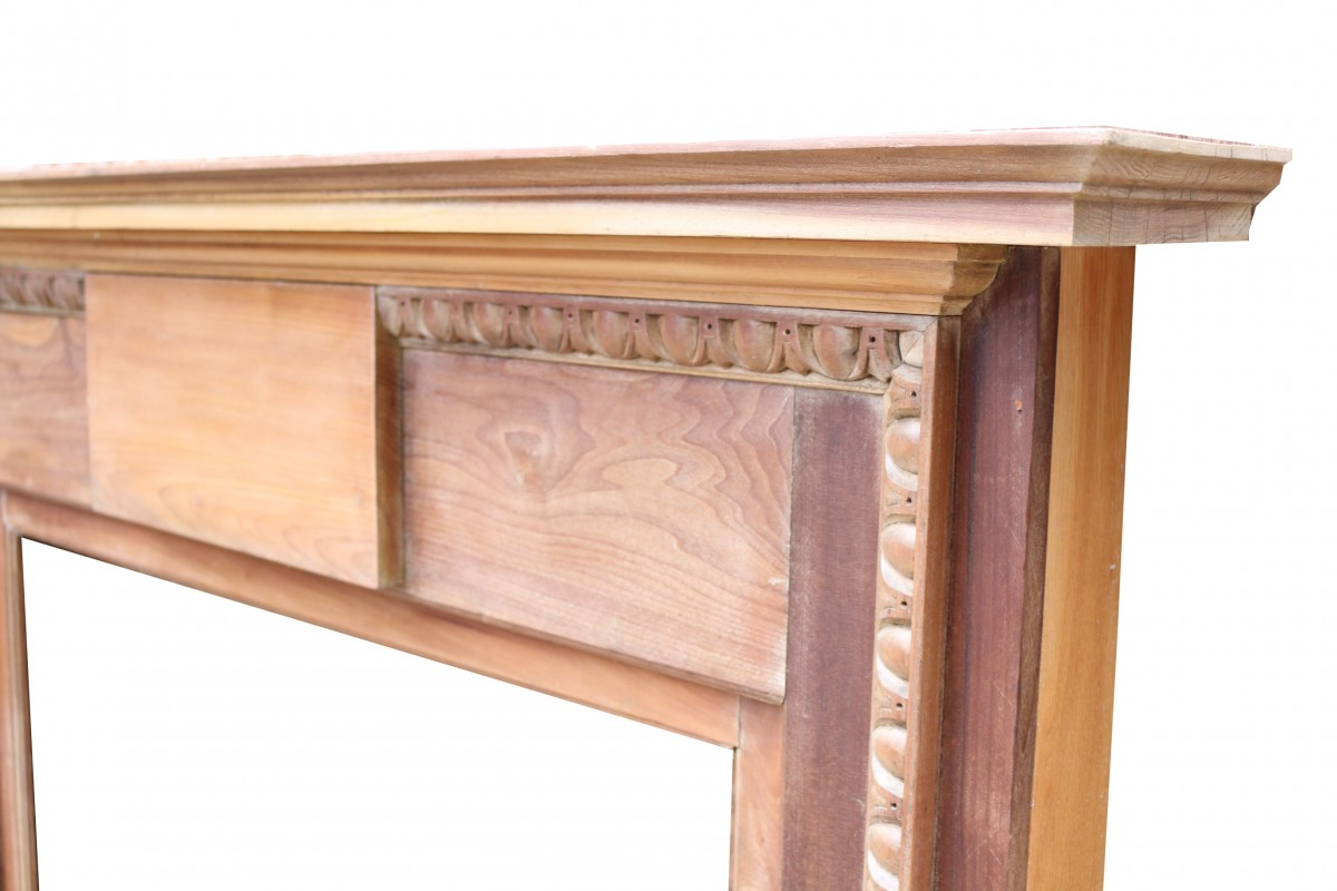Antique English Walnut Fire Surround