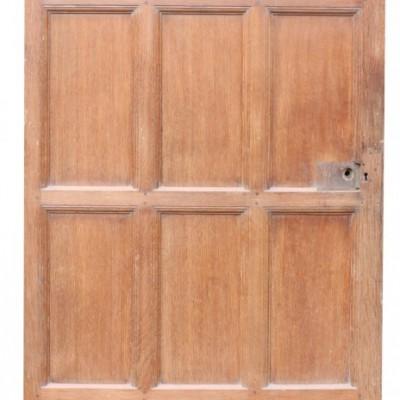 Antique Oak And Pine Interior Door