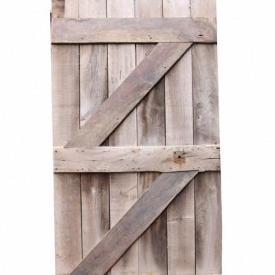 Antique Oak Rustic Farmhouse Plank Door