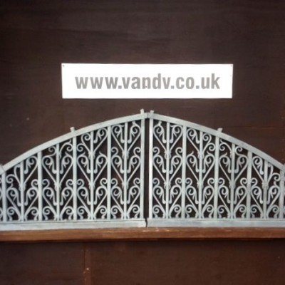 Reclaimed Wrought Iron Arched Panels