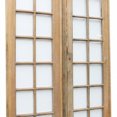 Pair Of Antique Pine French Glazed Doors