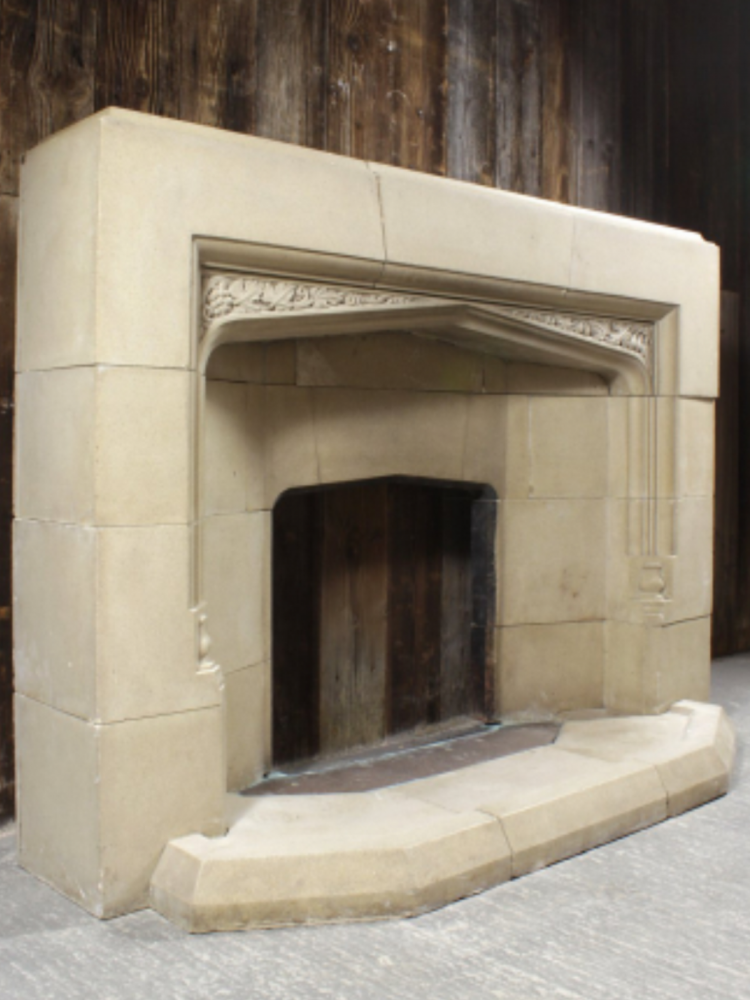 Tudor Style fire surround and hearth
