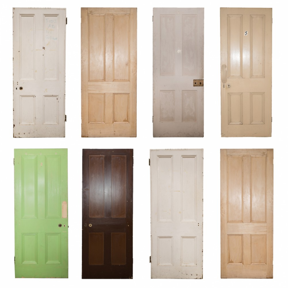 Large Selection of Original Victorian 4 Panel Doors