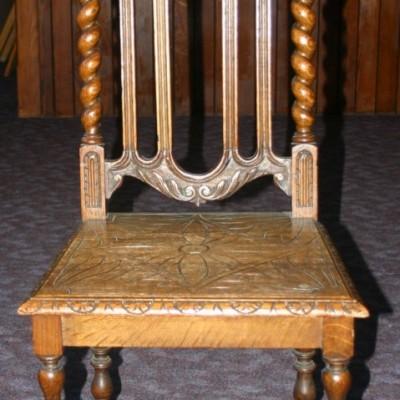 Two Victorian church chairs circa 1880