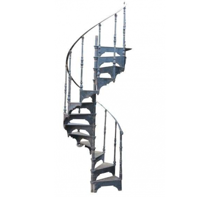 Black Cast Iron Spiral Staircase By Hayward Brothers