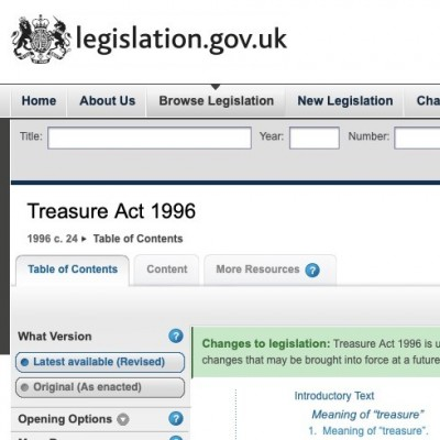 Changes to the Treasure Act 1996