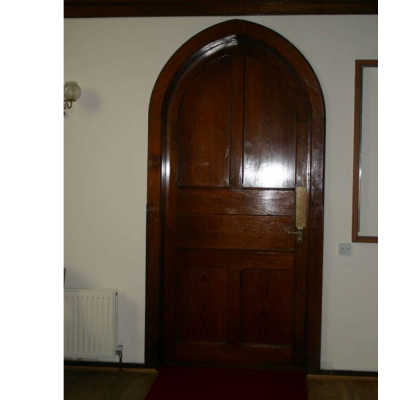 Internal arched Victorian church doors and frames