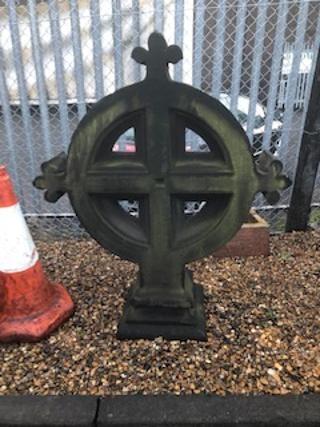 Ornate sandstone cross