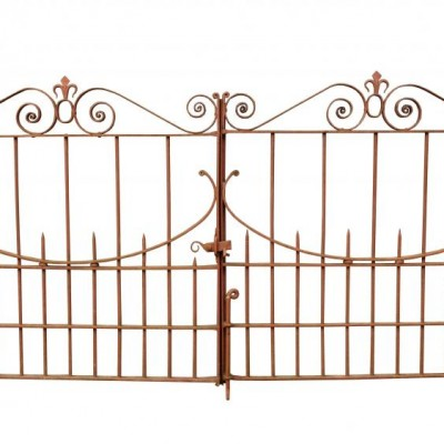 A pair of good quality Victorian wrought iron gates