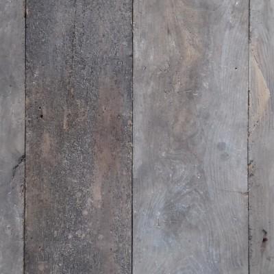 Reclaimed elm floorboards.
