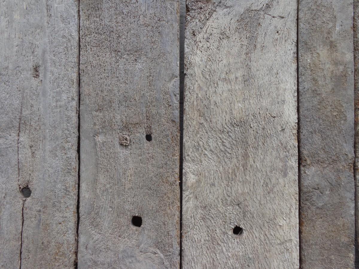 Reclaimed oak floorboards
