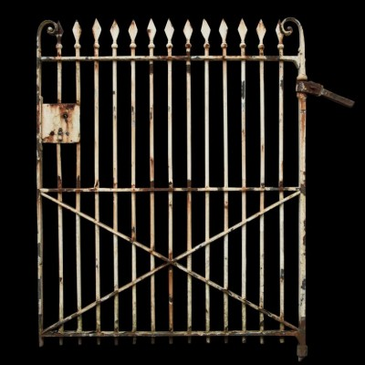 A 19th C. wrought iron pedestrian gate