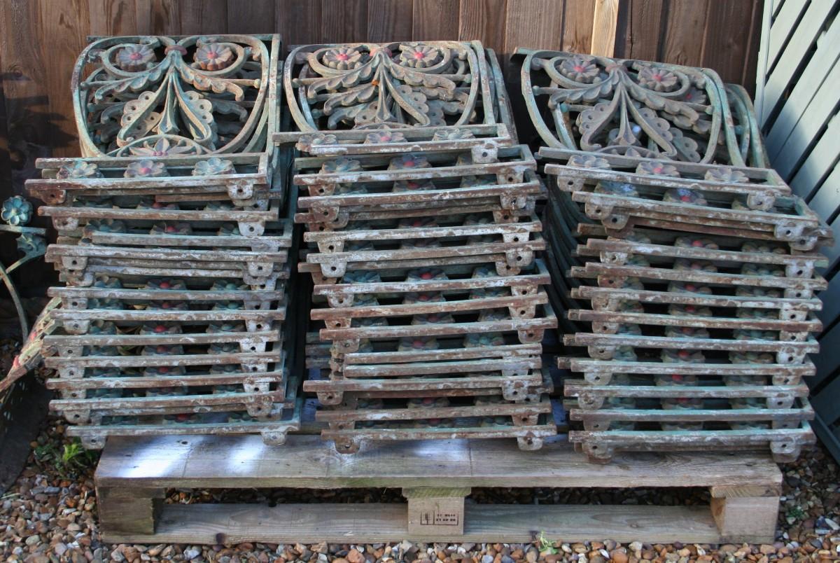 Run of approx 65ft Cast-Iron Balustrades