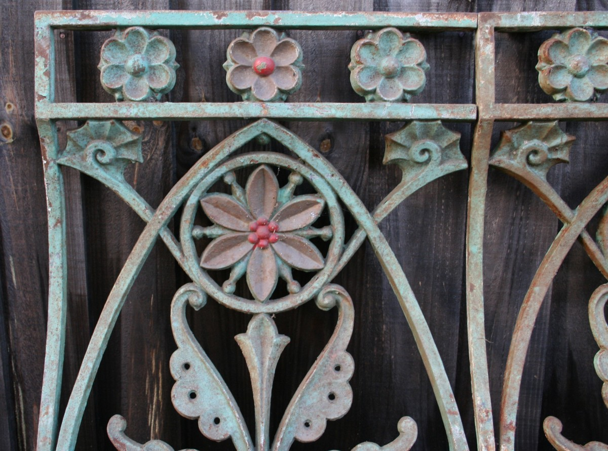 Cast-iron Balustrades in the style of Christopher Dresser