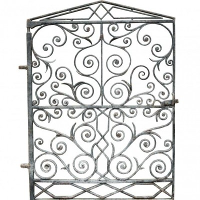 An ornate late 19th C. pedestrian gate