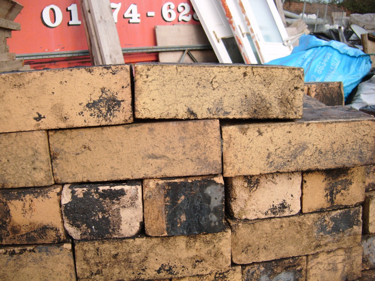 Reclaimed yellow imperial bricks