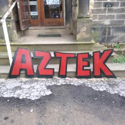 Vintage Aztek sign letters