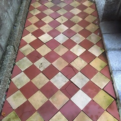 Victorian Outdoor Red and ''Buff'' Path Tiles
