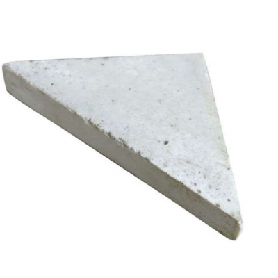 Reclaimed Encaustic Triangle Floor Tiles Light Cream