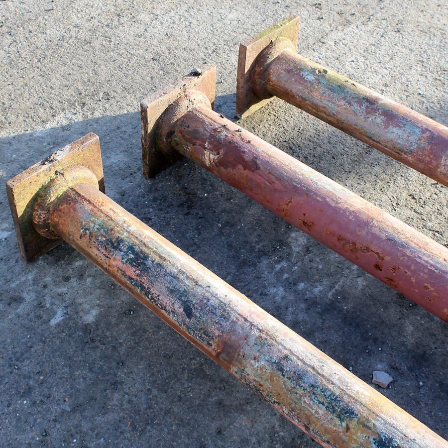 3 Victorian cast iron columns